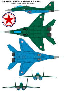 Mikoyan Gurevich MiG-29 FULCRUM KPAAF