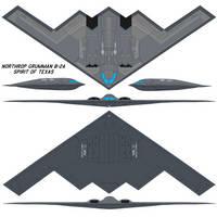 Northrop Grumman B-2A Spirit of Texas by bagera3005