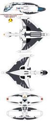 Starfleet  D'deridex BattleCruiser Event Horizon by bagera3005