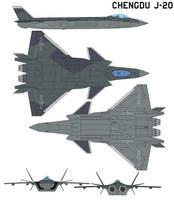 Chengdu J-20 Black Eagle production