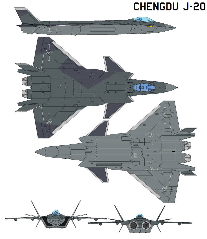 Chengdu J-20 Black Eagle production by bagera3005