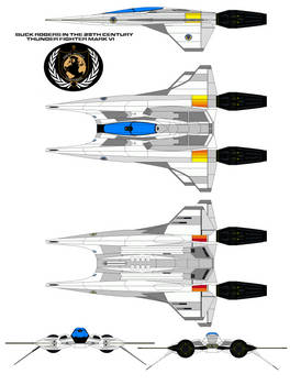 buck rogers in the 25th century Thunder Fighter mk