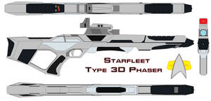 Starfleet phaser rifle Type 3d