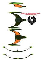 Romulan Bird of Prey mk 2 Thunder nei'rrh by bagera3005