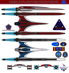 U.S.S. Atlantis CVX-4575 Redesign by bagera3005