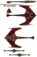 Klingon  D-77 kahless Class Battle Cruiser iks  La by bagera3005