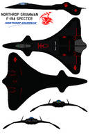 Northrop Grumman F-19A Specter grim reaper by bagera3005