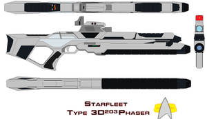 Starfleet Phaser Rifle Type 3d203 by bagera3005