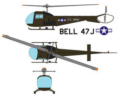Bell 47J Ranger by bagera3005