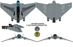 Lockheed Martin S.H.I.E.L.D F-302  fighter-interce by bagera3005