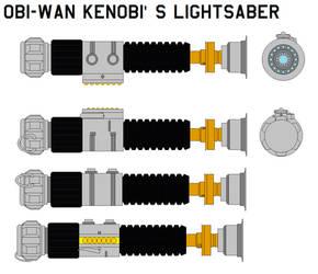 Obi-Wan Kenobi's Lightsaber by bagera3005