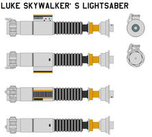 Luke Skywalker's lightsaber by bagera3005