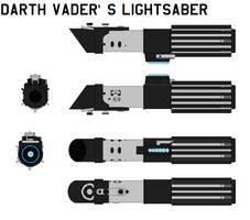 Darth Vader's lightsaber by bagera3005