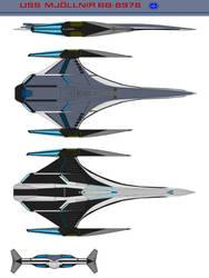 Heavy Battleship U.S.S.Mj0lnir BB-8978 by bagera3005