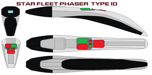 Star fleet phaser  type 10 by bagera3005