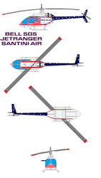 bell 505 JetRanger santini air by bagera3005