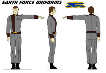 Earth Force Uniforms Security BABYLON 5 by bagera3005