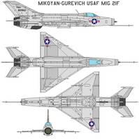 Mikoyan-Gurevich USAF MIG 21F
