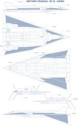 Northrop Grumman  SR-78  Aurora  blueprint call 2