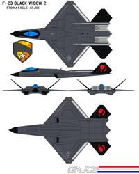 F-23 Black Widow 2  storm eagle  GI-JOE