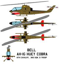 Bell AH-1G Huey Cobra 8th Cavalry, 3rd Sqn. D
