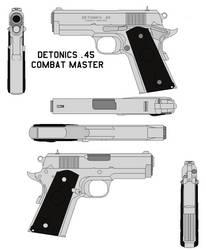 Detonics .45 Combat Master hawks pistol