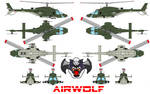AIRWOLF bell 222 US ARMY
