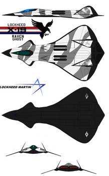 Lockheed X-19 Raven Stealth Fighter Snow Raven