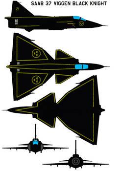 Saab 37 Viggen black knight