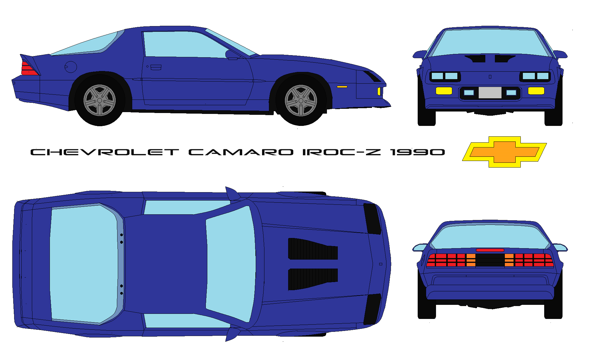 chevrolet camaro iroc z 1990 by bagera3005 on deviantart chevrolet camaro iroc z 1990 by
