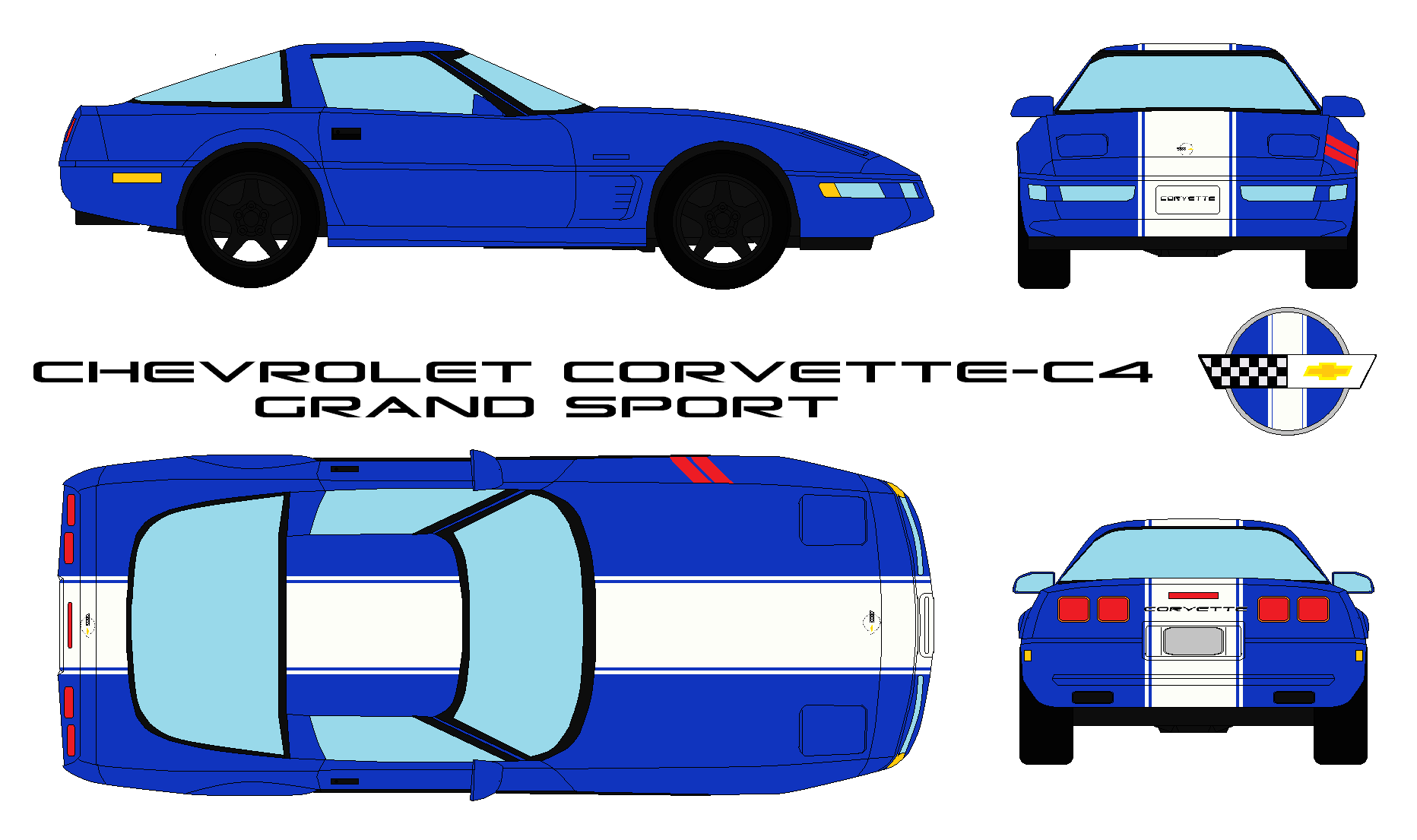 Chevrolet Corvette C4 Grand Sport By Bagera3005 On Deviantart