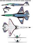 Northrop Grumman YF-43 Whitetip shark Aggressor