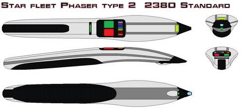 Star fleet Phaser type 2  2380 Standard