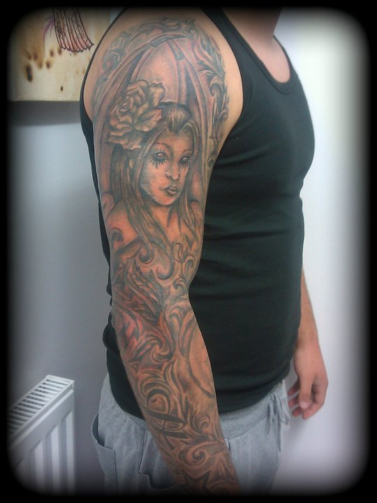 d25e0ff0b full sleeve angel tattoo by RagamuffinOConnor on DeviantArt