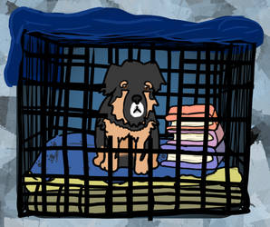 Close-up of Buuki in Jail from my notebook cover