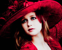 Fluffy Red Hat by MordsithCara