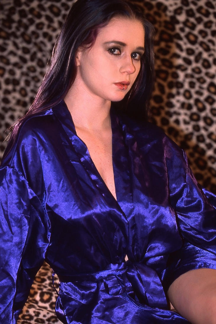 Blue Satin Robe 3 by MordsithCara