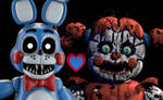Nightmare Toy Bonnie x Nightmare baby