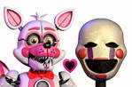 Funtime foxy x puppet by AgentPrime