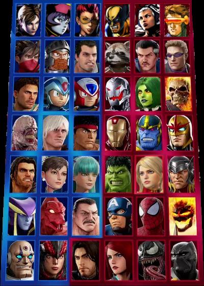 Marvel vs Capcom infinite select screen 2 0 by AgentPrime on DeviantArt