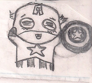 Chibi Captain America by humanhottie3