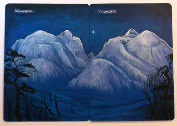 Vinternatt i Rondane - Mountain by BGaltered