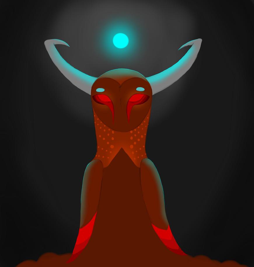 Owl Goddess by JellyBeanBullet