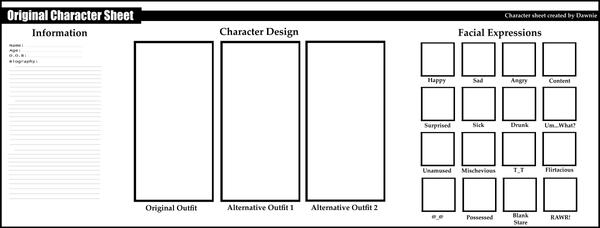 Character Design Sheet Template : Character sheet blank by yamidawn g