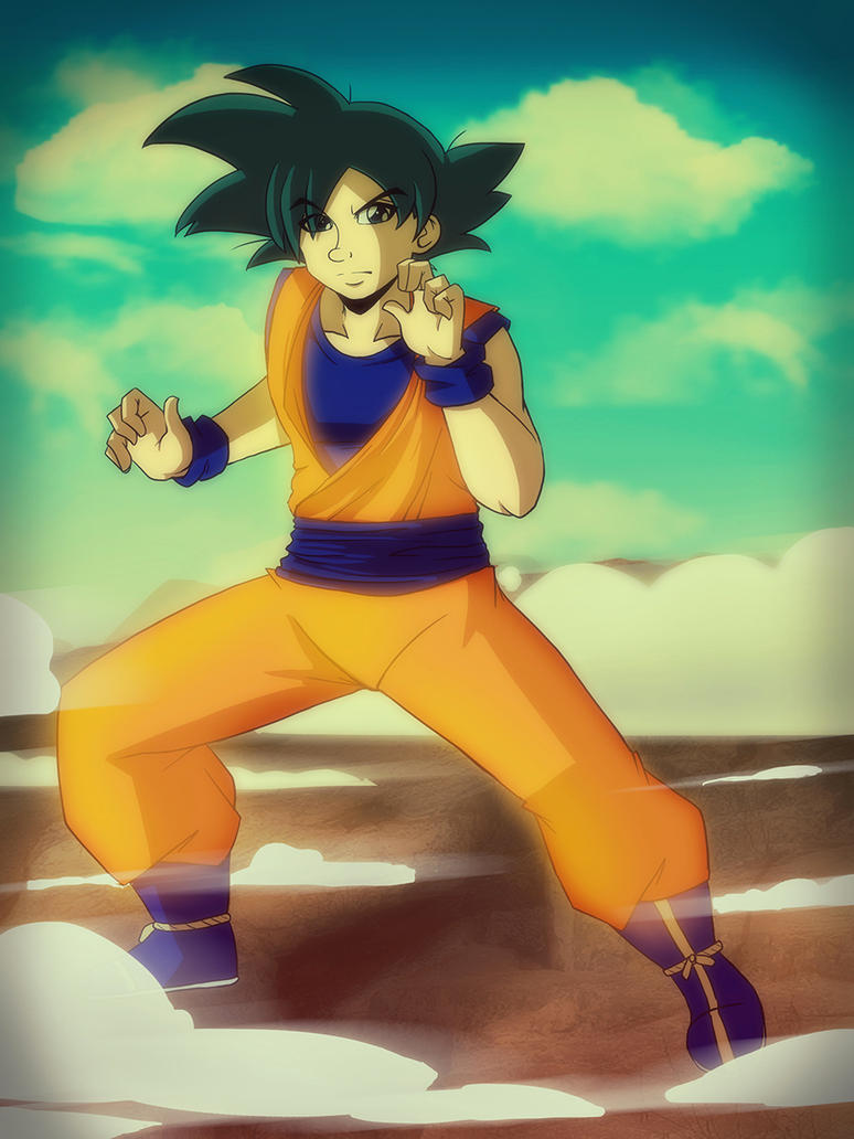 .:DBZ Goku - Happy birthday, MasakoX:. by Dawnrie