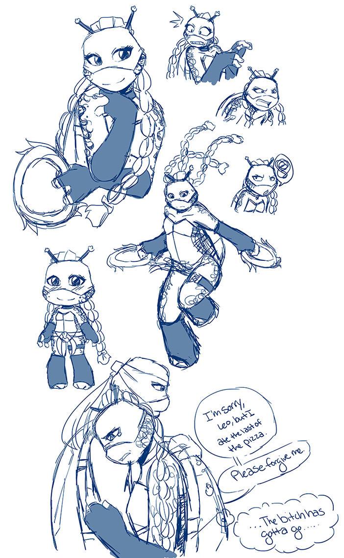 .:TMNT RO Sketchdump:. by Dawnrie