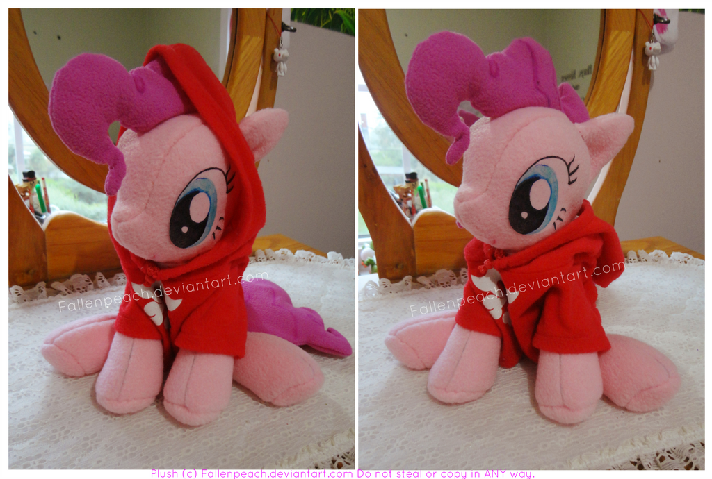 .: Pinkie Plush With Hoodie :. by Fallenpeach
