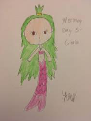 Mermay Day 5- Gloria by WarriorCatLillyheart