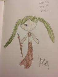 Mermay Day 7- Teresa by WarriorCatLillyheart