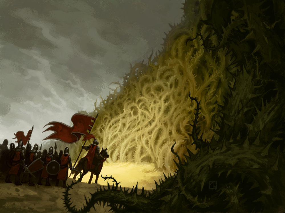 Wall of Thorns by alexstoneart on DeviantArt